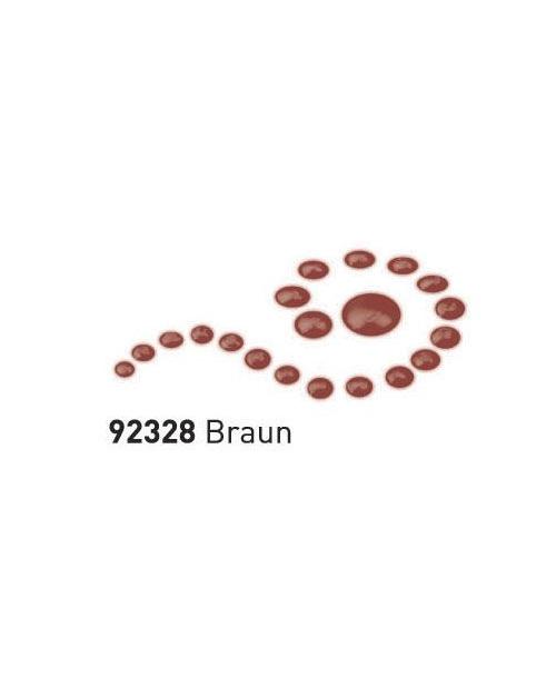 """Dažai tamsiai ir šviesiai tekstilei su """"perlo""""efektu, ruda, 29ml (Brown)"""