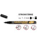Lako rašikliai, linijos plotis1-2mm (fine)
