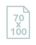 70 x 100 cm